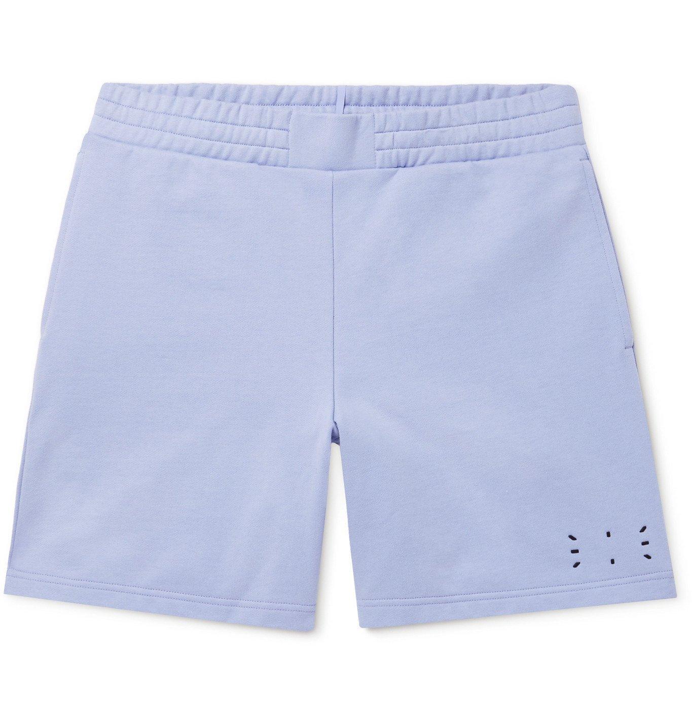 MCQ - Wide-Leg Appliquéd Cotton-Jersey Shorts - Purple