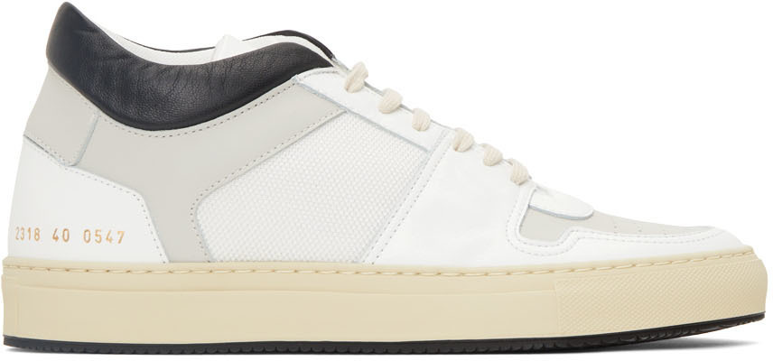 Photo: Common Projects White & Black BBall Low Decades Sneakers