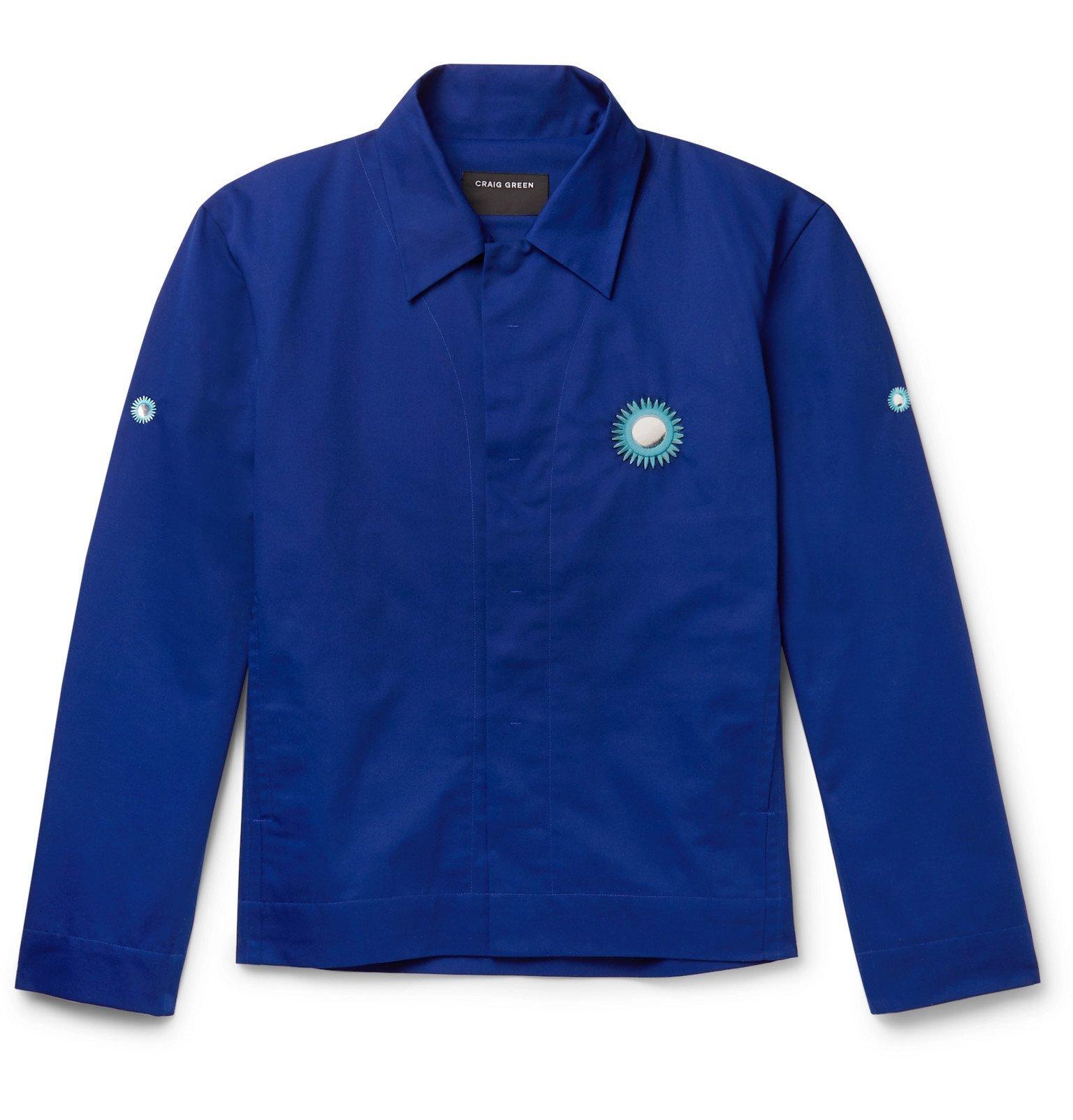 Photo: Craig Green - Embroidered Embellished Twill Blouson Jacket - Blue