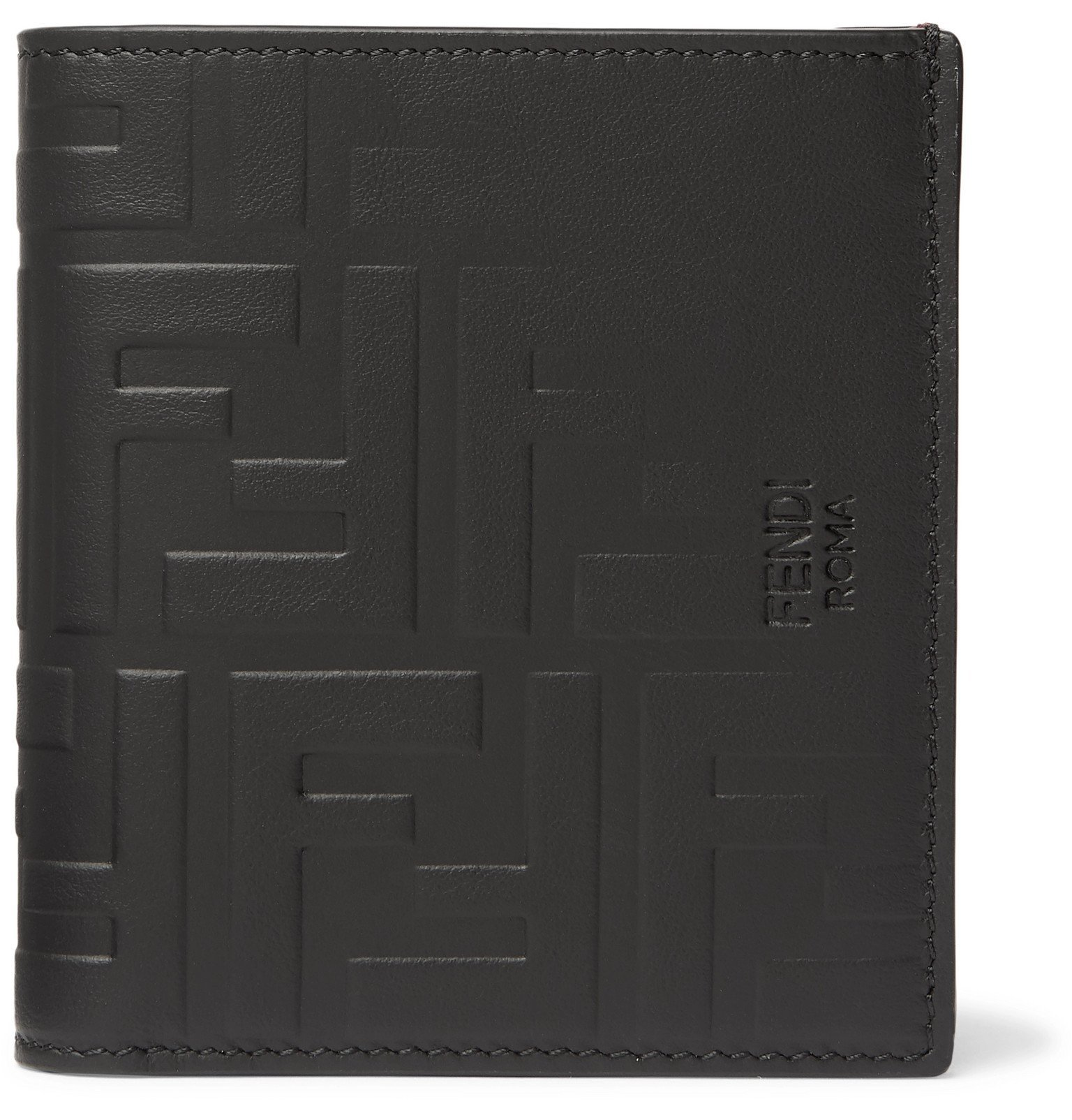 Photo: Fendi - Logo-Embossed Leather Billfold Wallet - Black