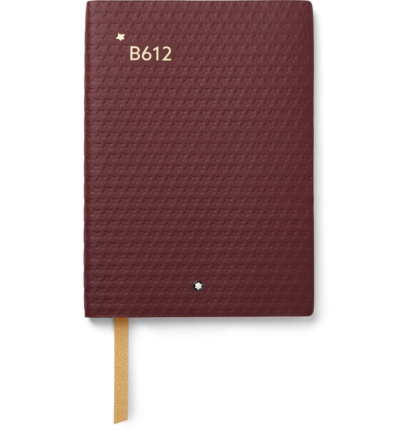 Photo: Montblanc - #146 Petit Prince and Planet Debossed Leather Notebook - Burgundy
