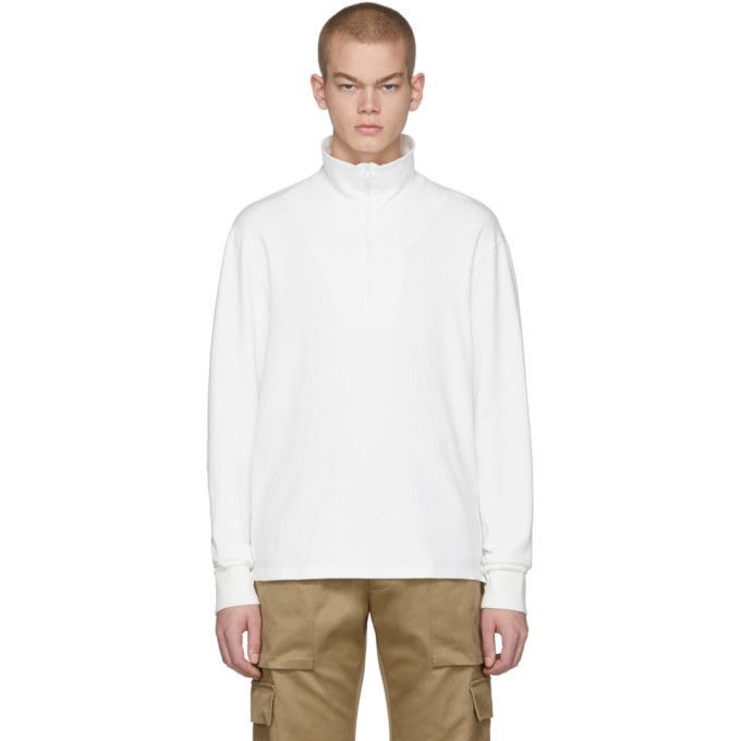 Photo: Barena White Calenda Zip-Up Sweater