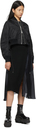 Sacai Black & Navy Wool Knit Dress