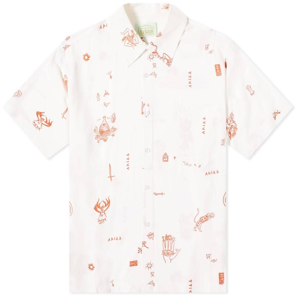 Aries Mystic Print Hawaiian Shirt