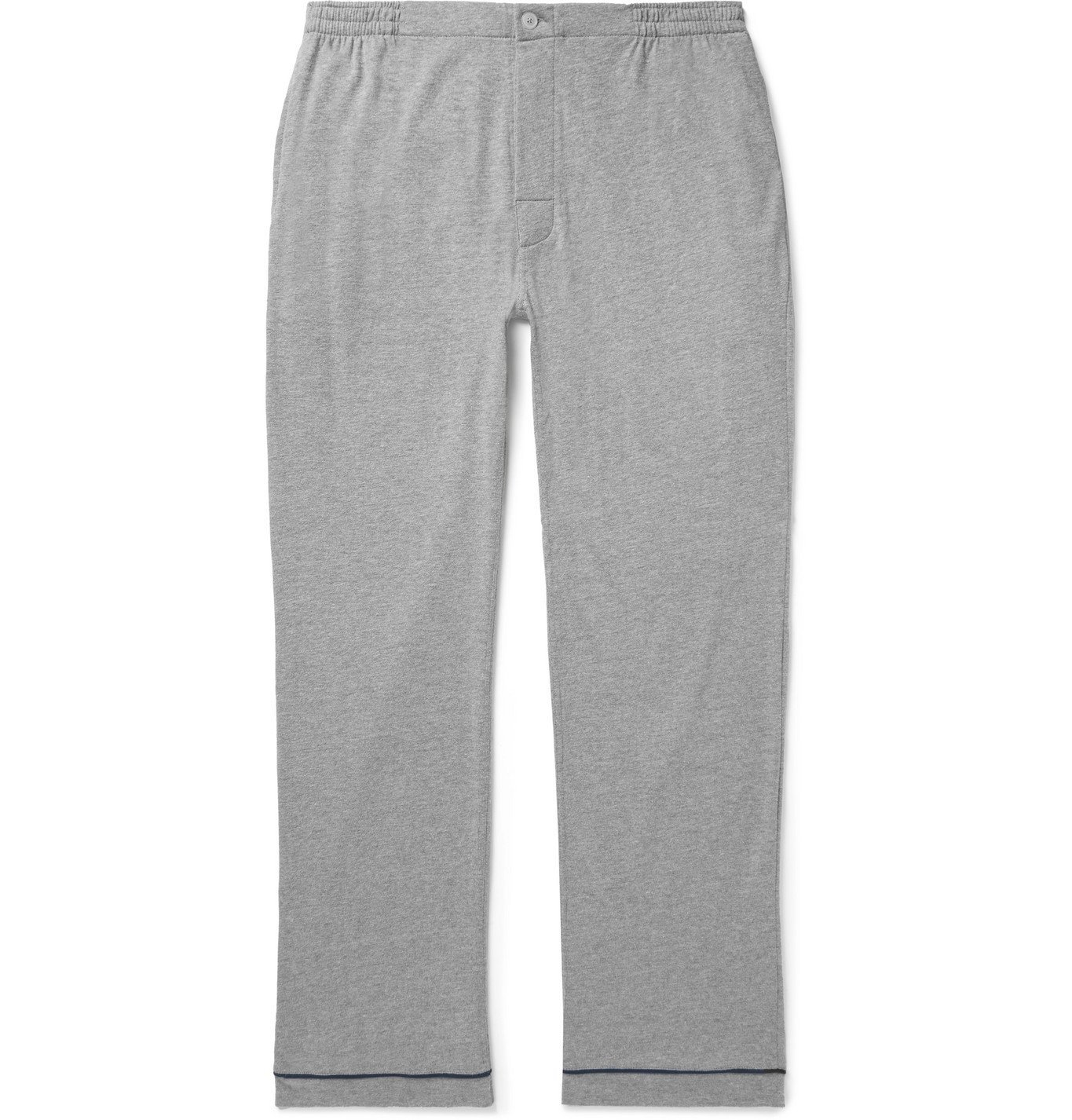 Photo: Sleepy Jones - Marcel Cotton-Blend Jersey Pyjama Trousers - Gray