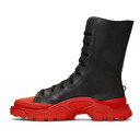 Raf Simons Black and Red adidas Originals Edition Detroit High Sneakers