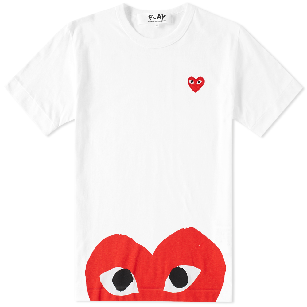 Photo: Comme des Garcons Play Oversized Heart Tee