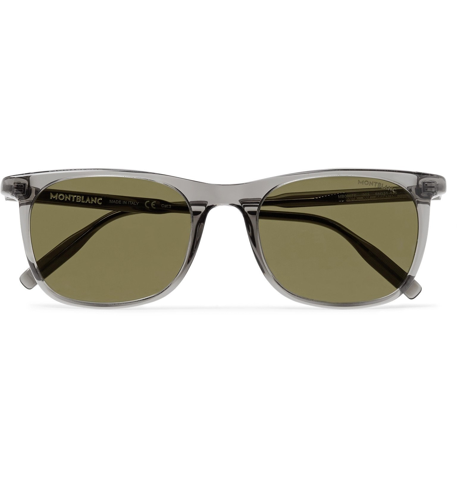 Photo: Montblanc - D-Frame Acetate Sunglasses - Gray