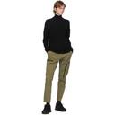 C.P. Company Black Virgin Wool Half-Zip Sweater