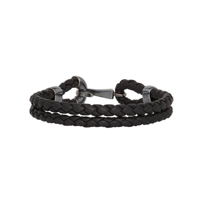 Bottega Veneta Black Intrecciato Nappa Bracelet