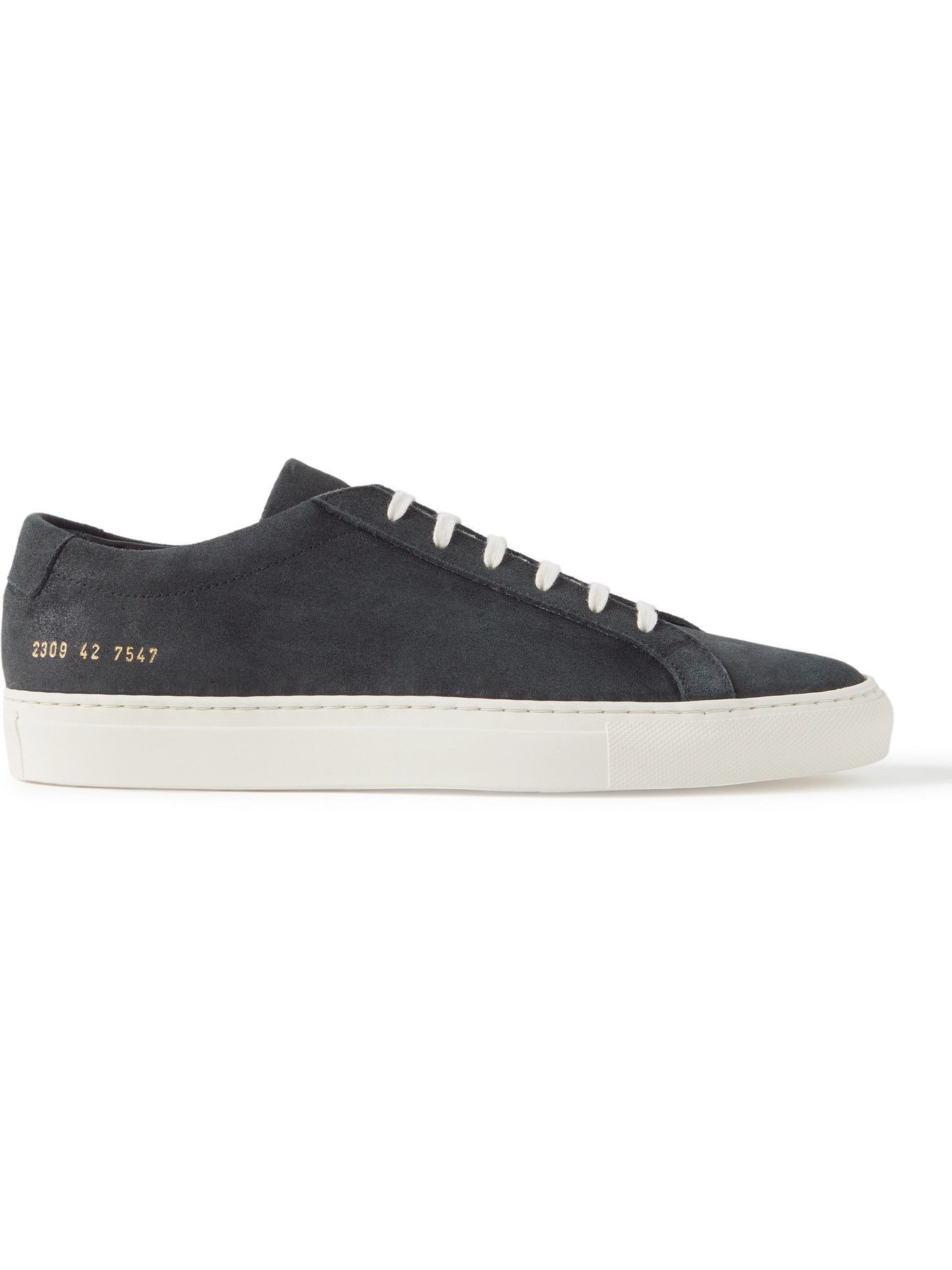 Photo: Common Projects - Original Achilles Waxed-Suede Sneakers - Black
