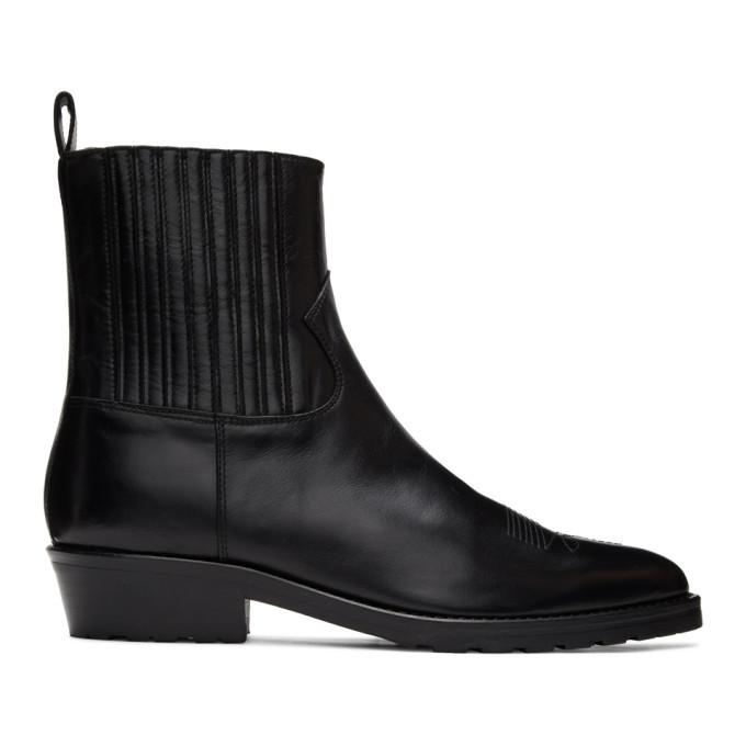 Photo: Toga Virilis Black Hard Leather Chelsea Boots