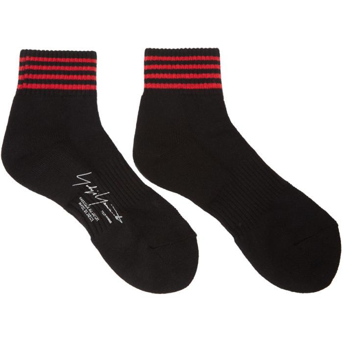 Photo: Yohji Yamamoto Black and Red Stripe Socks