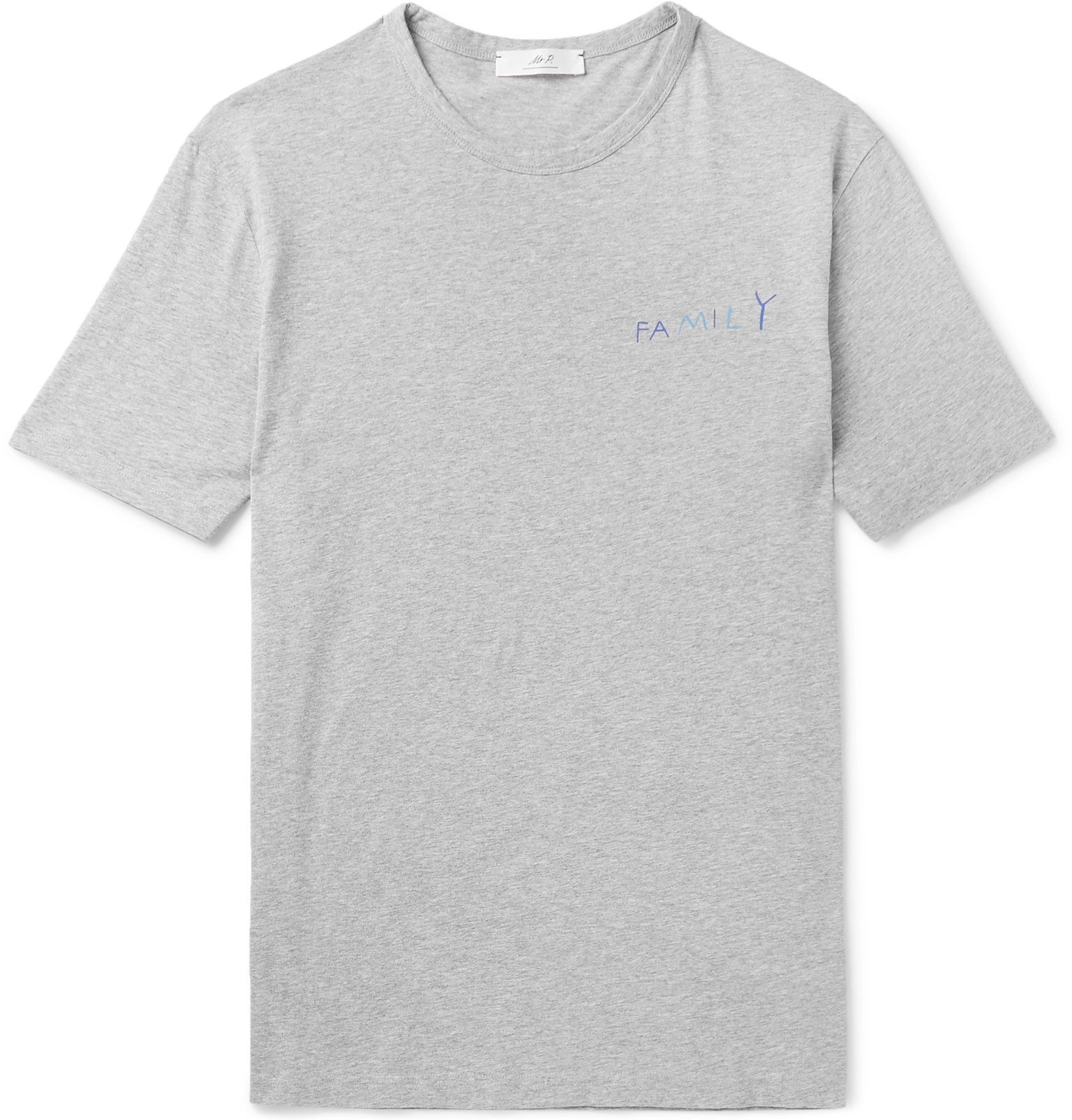 Photo: Mr P. - MR PORTER Health In Mind Printed Cotton-Jersey T-Shirt - Gray