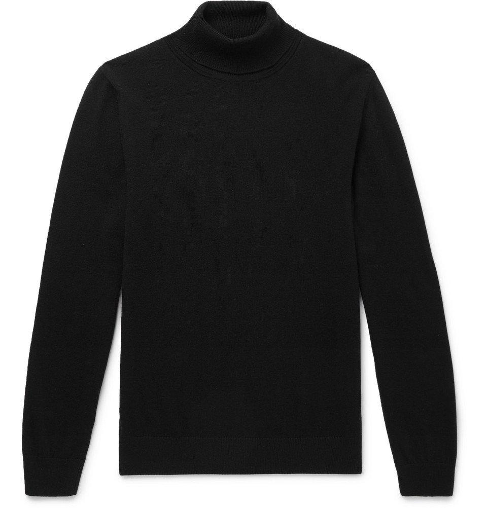 Photo: Mr P. - Slim-Fit Merino Wool Rollneck Sweater - Black