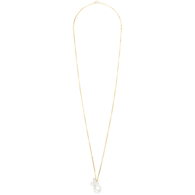 Alighieri Gold and Transparent The Spellbinding Tear Catcher Necklace