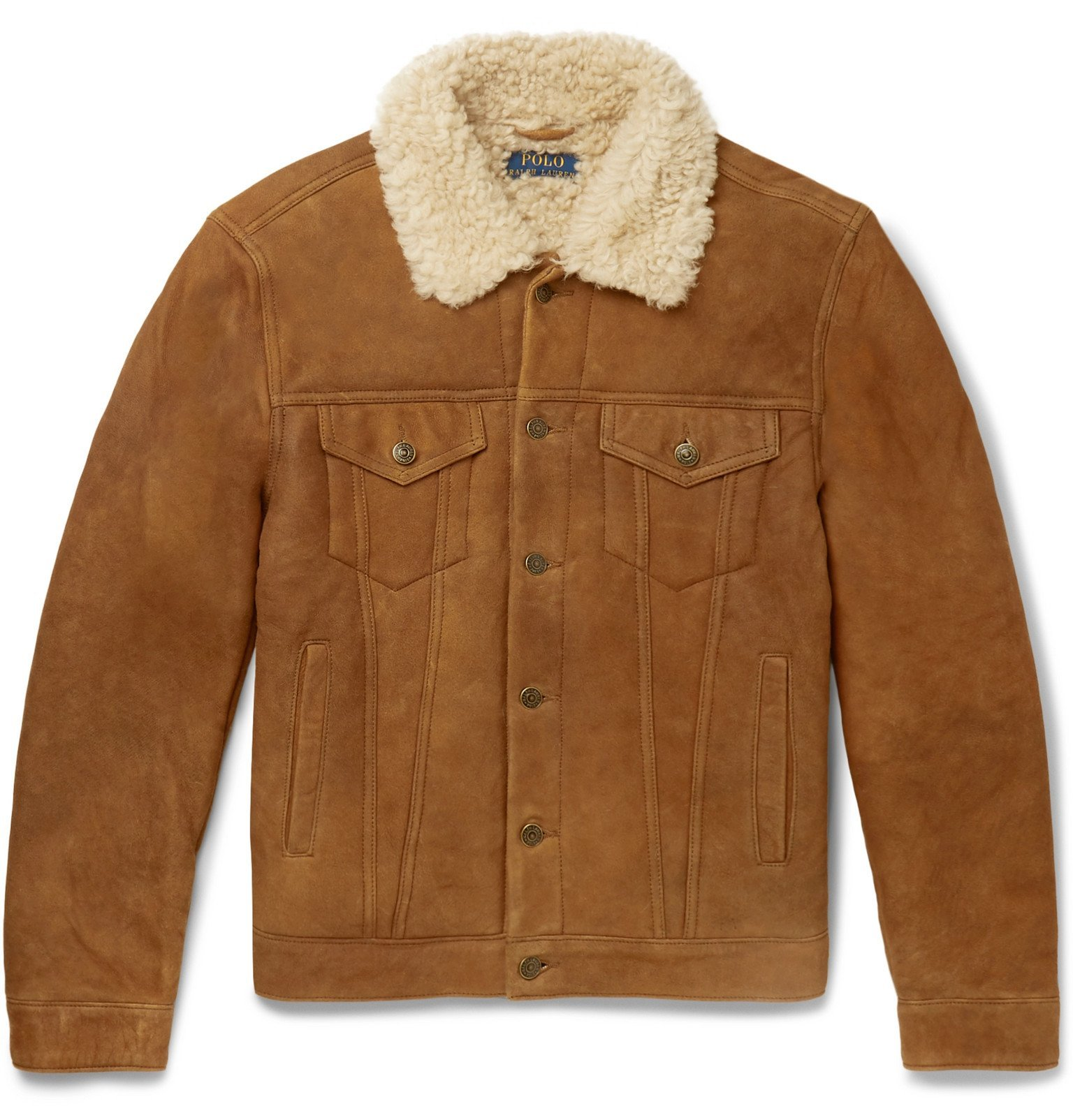 Photo: Polo Ralph Lauren - Shearling Trucker Jacket - Brown