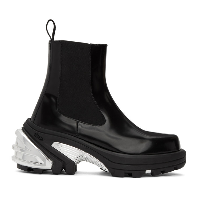 Photo: 1017 ALYX 9SM Black and Silver Removable Sole Chelsea Boots