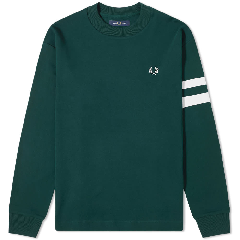 Photo: Fred Perry Authentic Engineered Stripe Crew Sweat