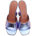 Amina Muaddi Purple Iridescent Caroline Slipper Heels