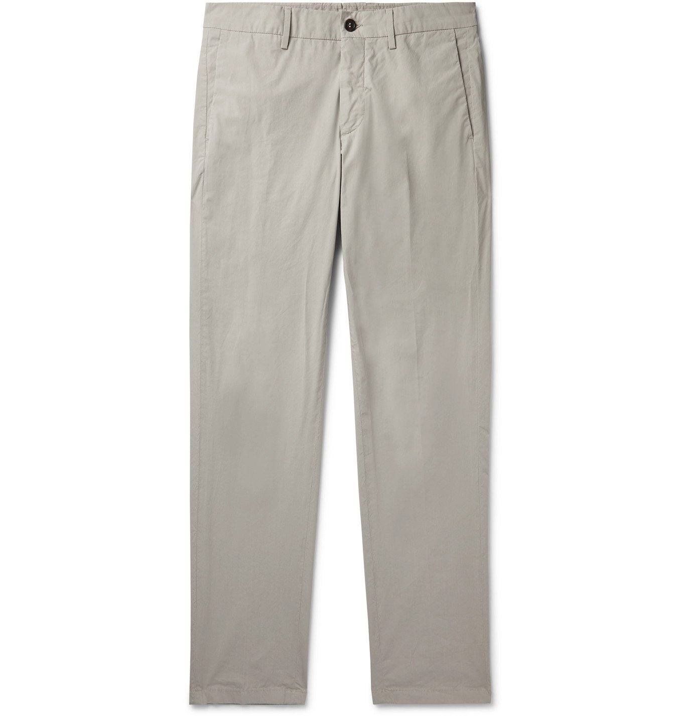 Photo: Dunhill - Slim-Fit Stretch-Cotton Chinos - Gray