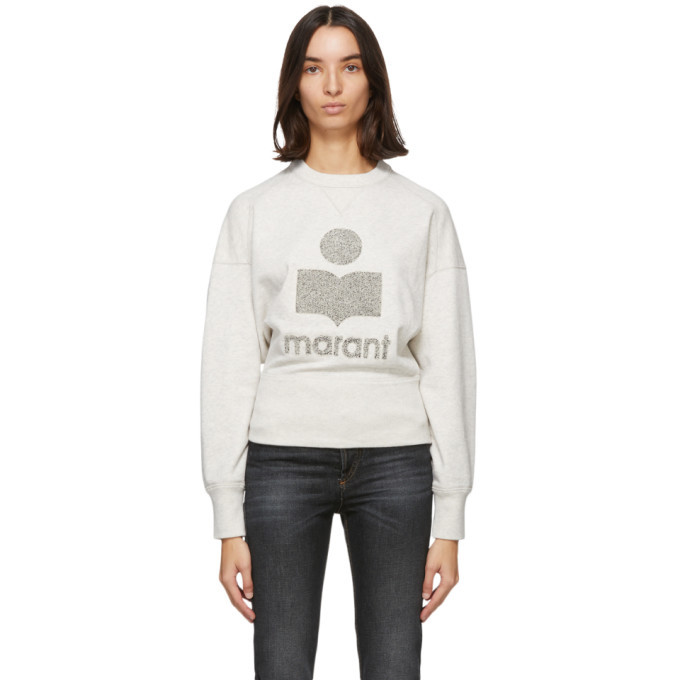 Photo: Isabel Marant Etoile Grey and Off-White Teloya Sweatshirt