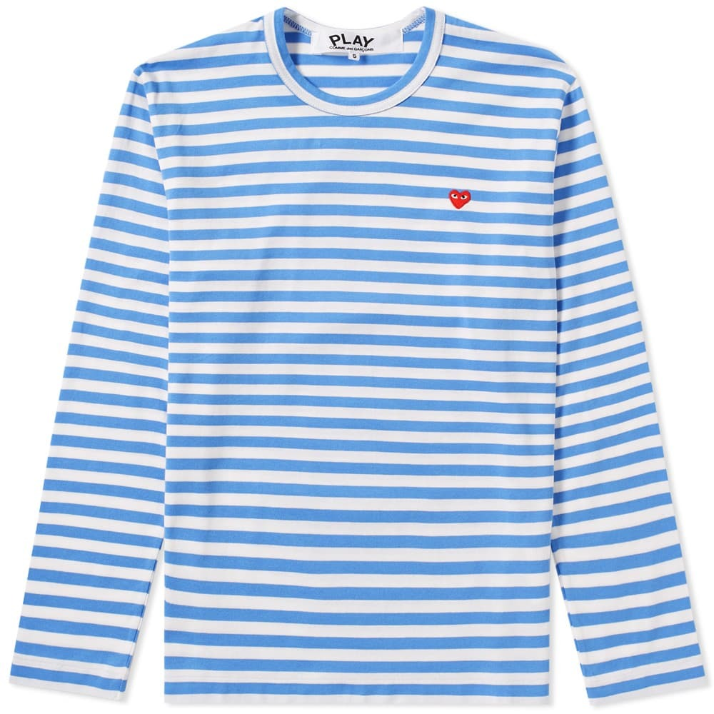 Photo: Comme des Garcons Play Little Red Heart Long Sleeve Stripe Tee