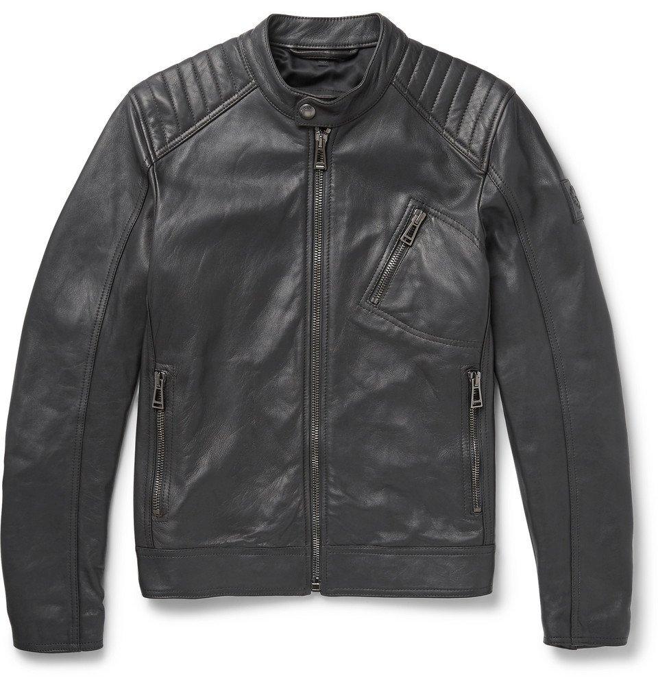 Belstaff - V Race Leather Jacket - Men - Gray
