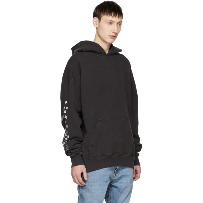 Black Falling Checkers Rhacer Hoodie Rhude Clearance Classic Cheap Real Cheap Sale Footaction Y42HMd