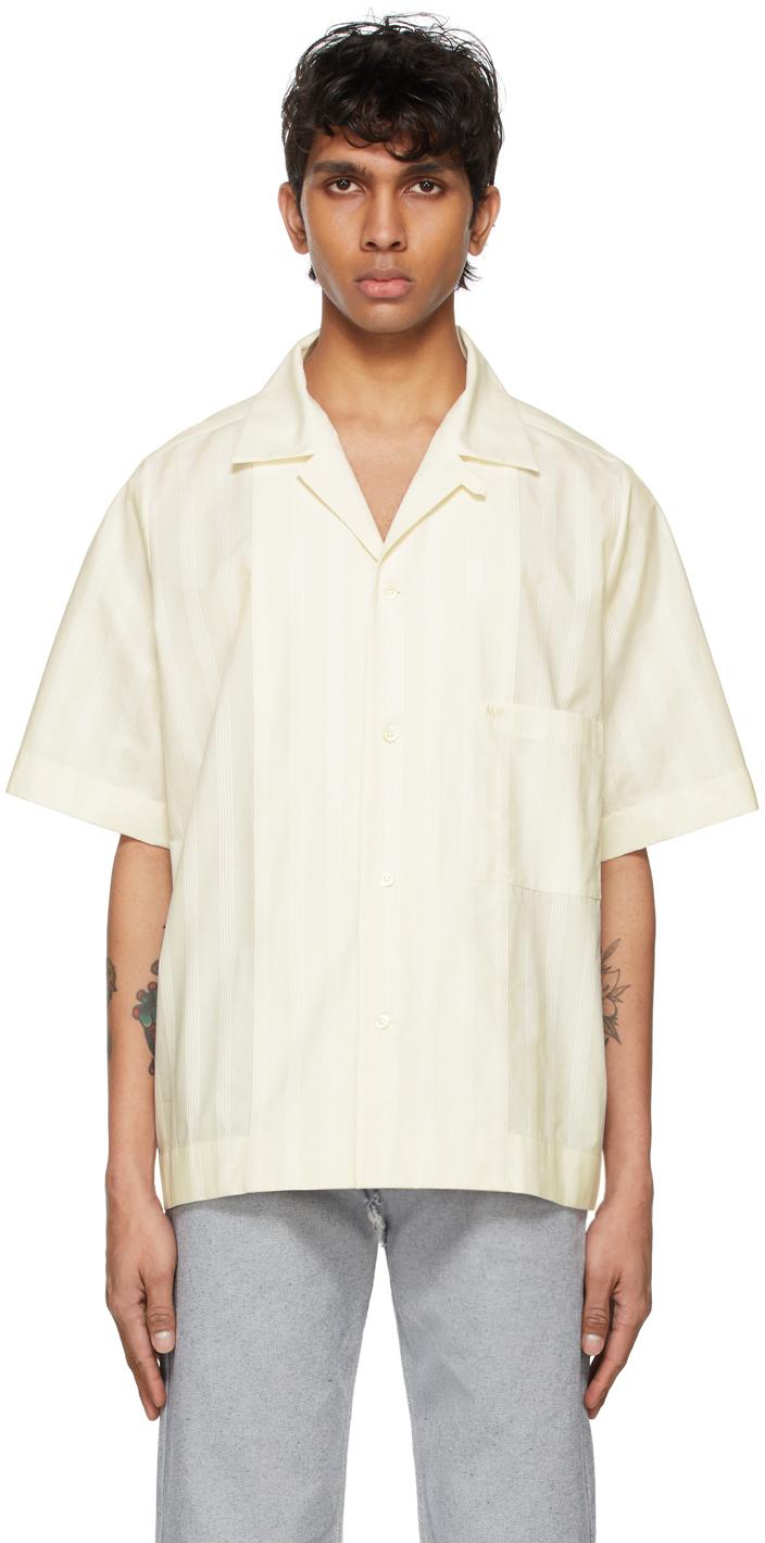 Photo: Maison Margiela Off-White Cotton Striped Shirt