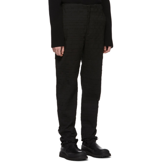 Bottega Veneta Black Scuba Suiting Intrecciato Trousers