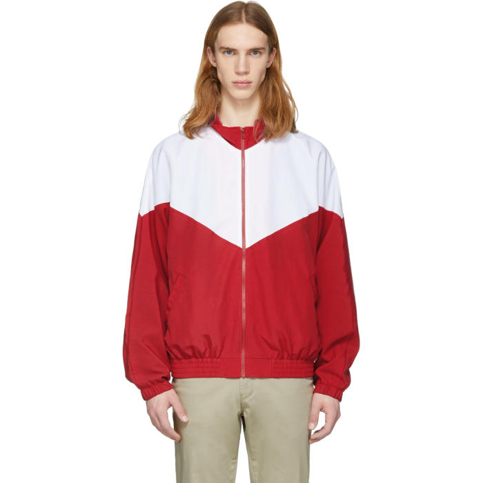 Photo: Noon Goons Red and White Mall Jogger Jacket