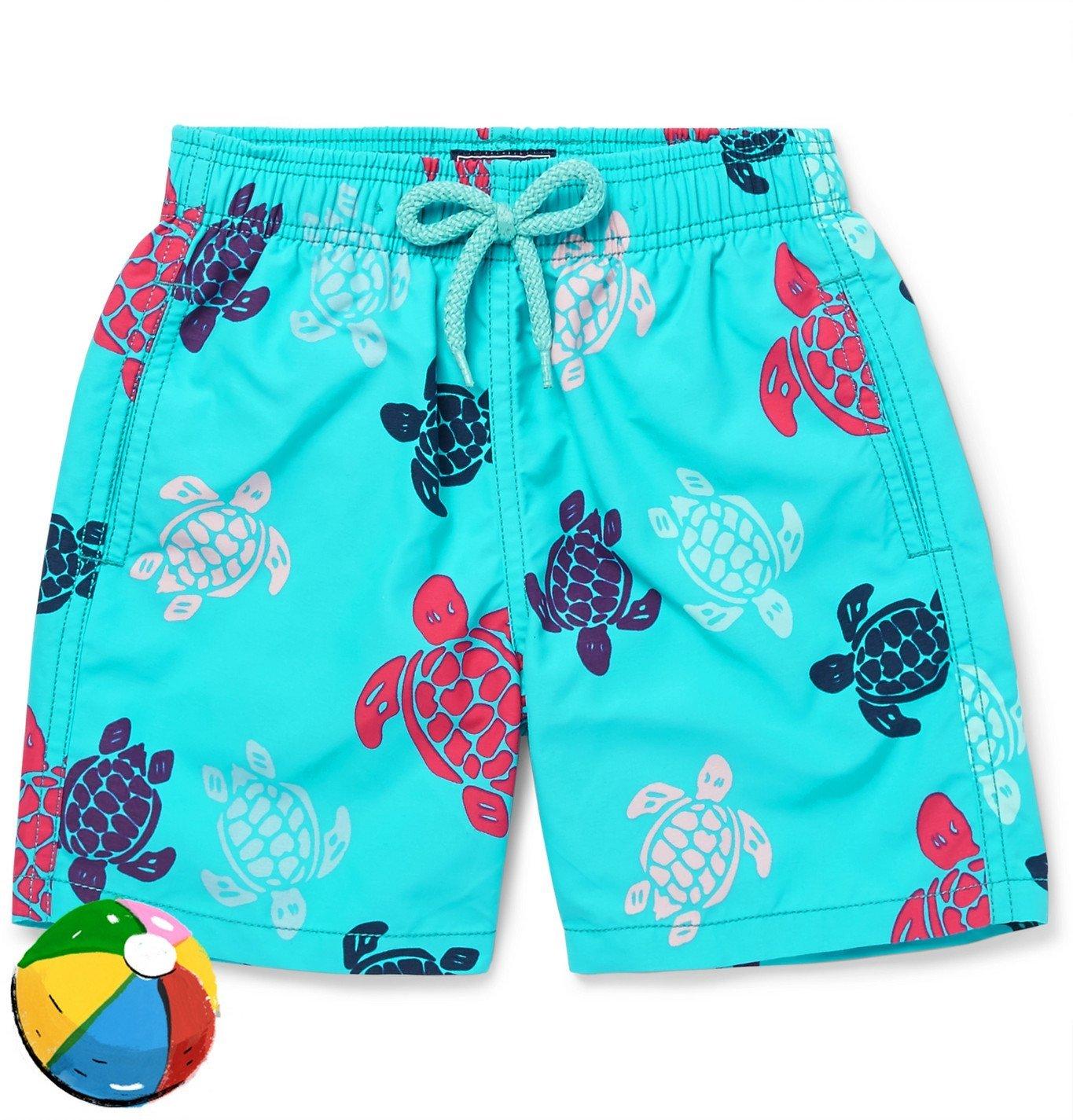 Photo: Vilebrequin - Boys Ages 2 - 8 Jim Printed Swim shorts - Blue