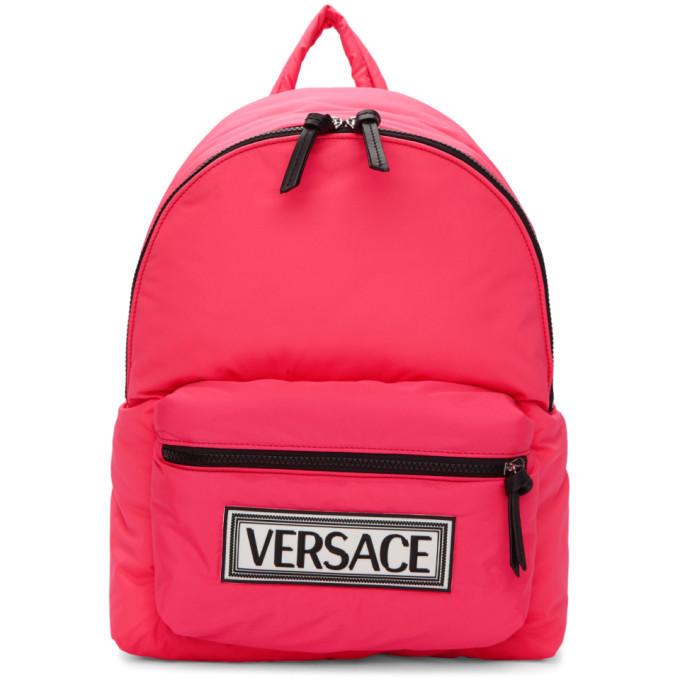 Photo: Versace Pink Logo Backpack