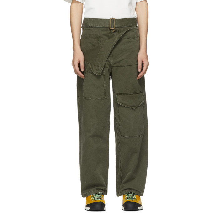 Photo: JW Anderson Khaki Fold Front Utility Trousers