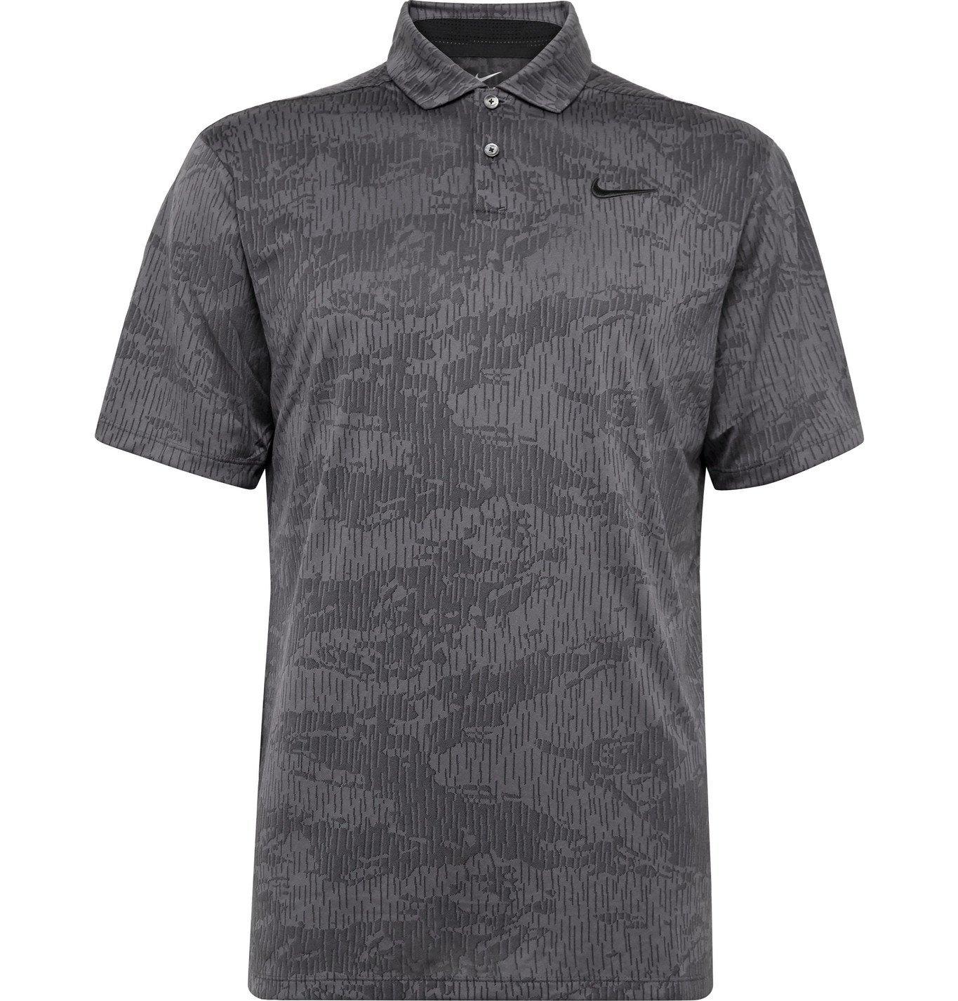 Photo: Nike Golf - Vapor Camouflage-Jacquard Dri-FIT Polo Shirt - Gray