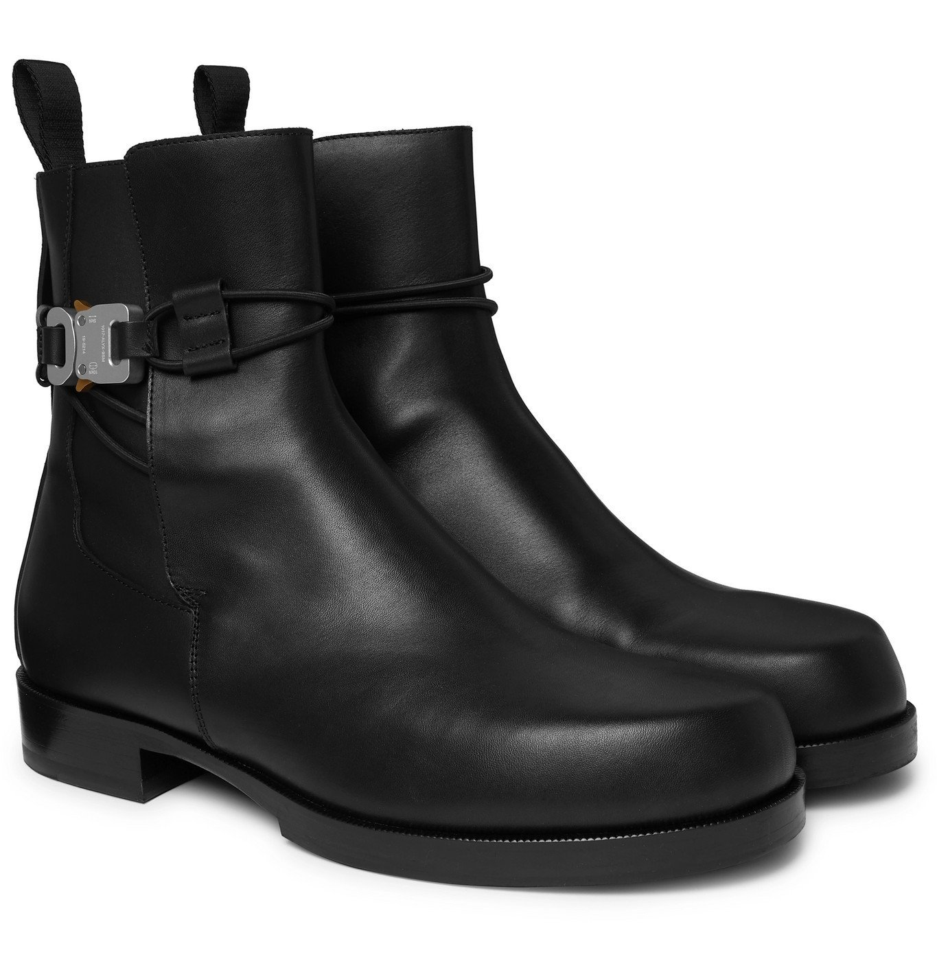 Photo: 1017 ALYX 9SM - Buckled Leather Chelsea Boots - Black