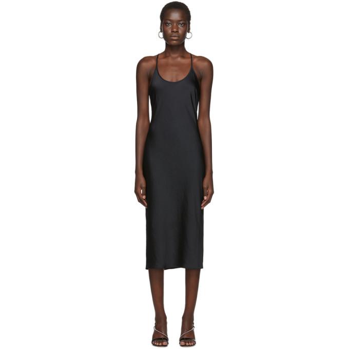 alexanderwang.t Black Wash and Go Racerback Dress