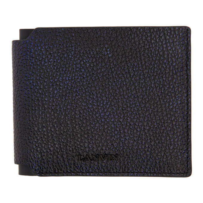 Photo: Lanvin Navy and Black Wallet
