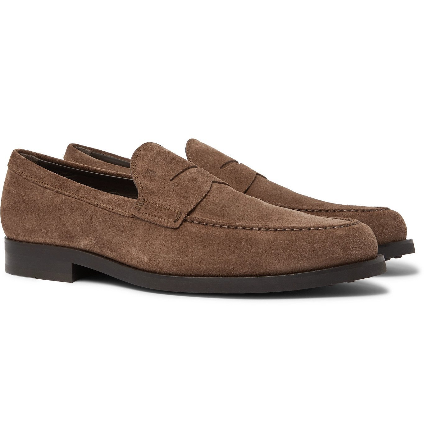 Photo: Tod's - Suede Loafers - Brown