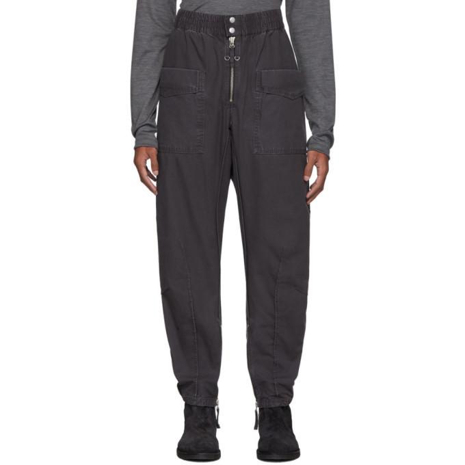 Photo: Isabel Marant Black Faded Tilsen Cargo Trousers