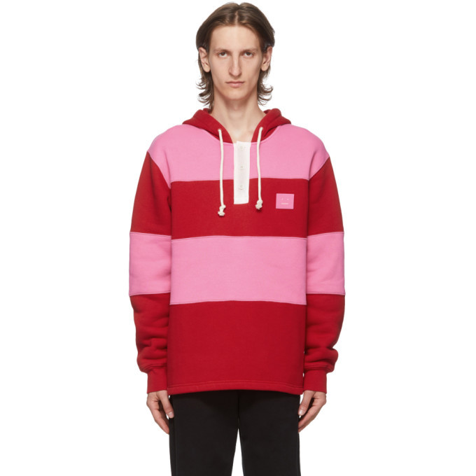 Photo: Acne Studios Red and Pink Rugby Hoodie