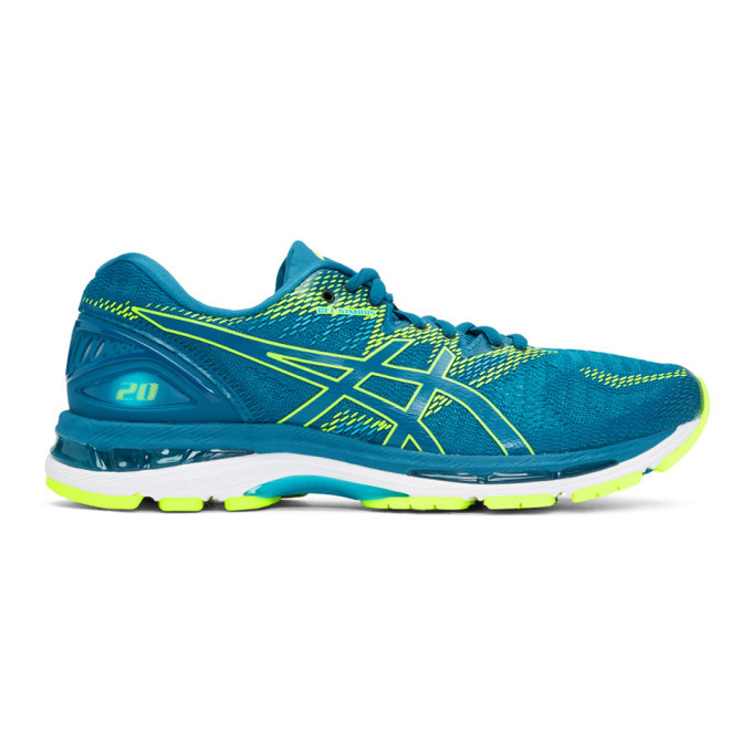 Photo: Asics Blue and Green Gel-Nimbus 20 Sneakers