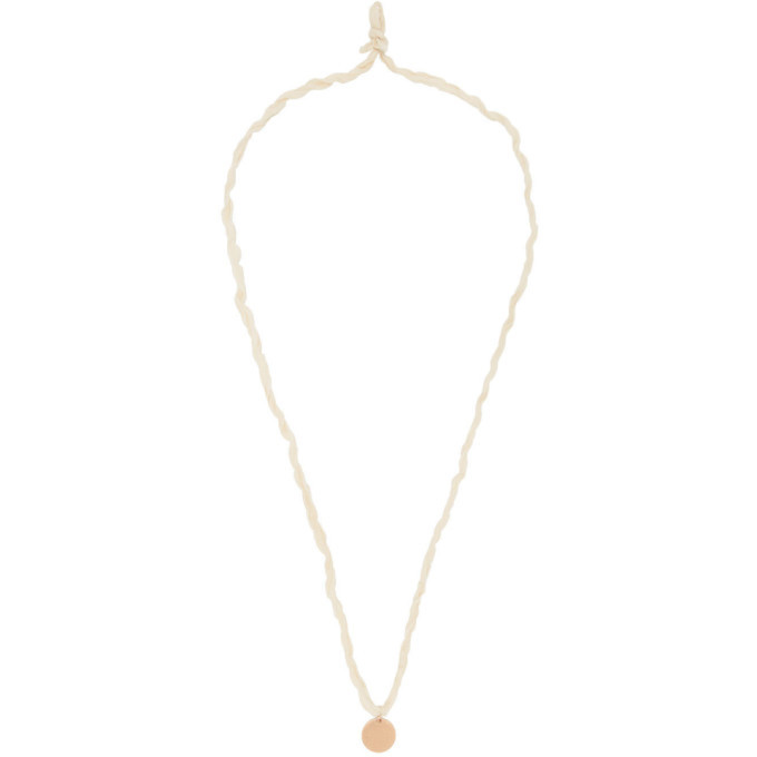 Photo: Jil Sander Rose Gold and Off-White Disc Necklace