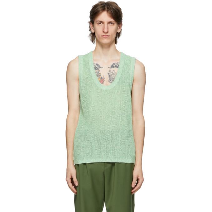 Photo: Tibi Green Crispy Cotton Sweater Vest