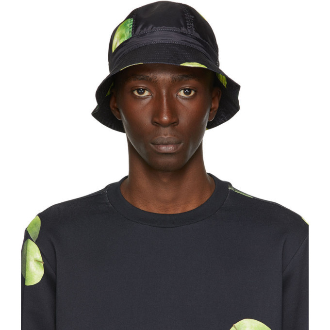 Photo: Paul Smith 50th Anniversary Black and Green Apple Bucket Hat
