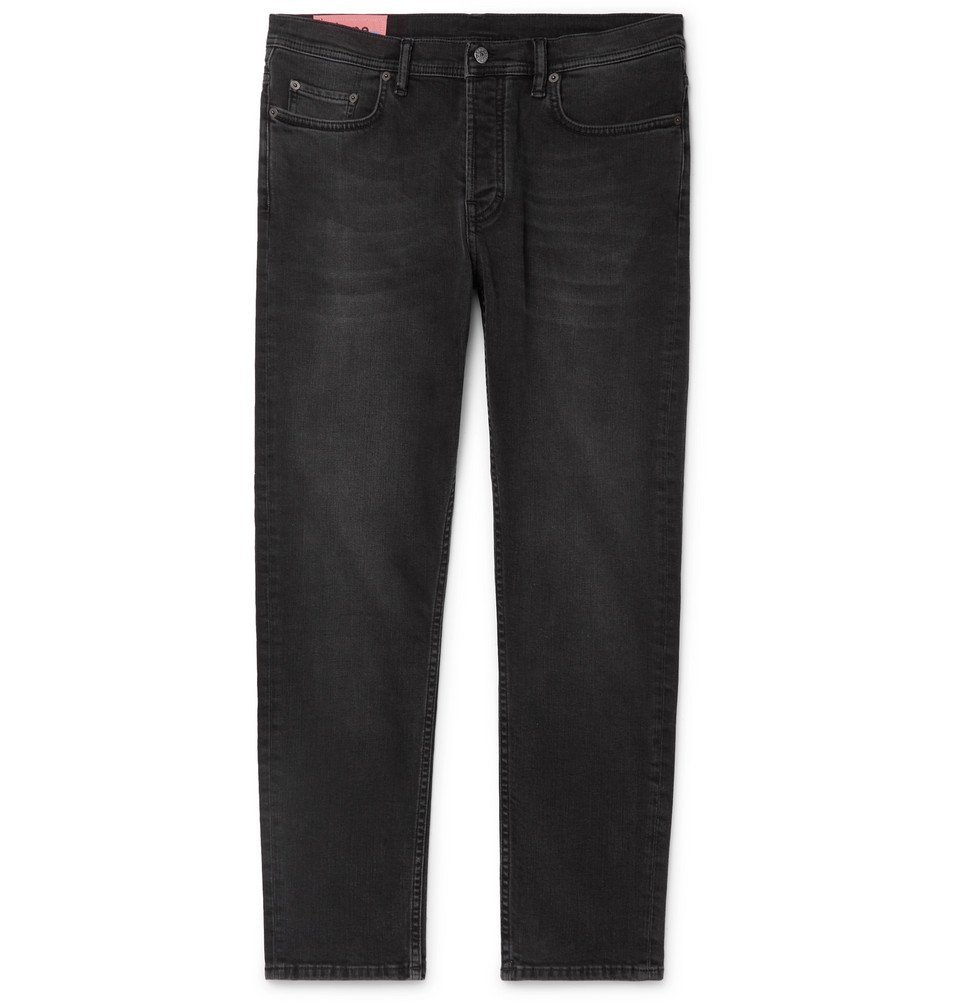 Acne Studios - River Cropped Slim-Fit Denim Jeans - Black