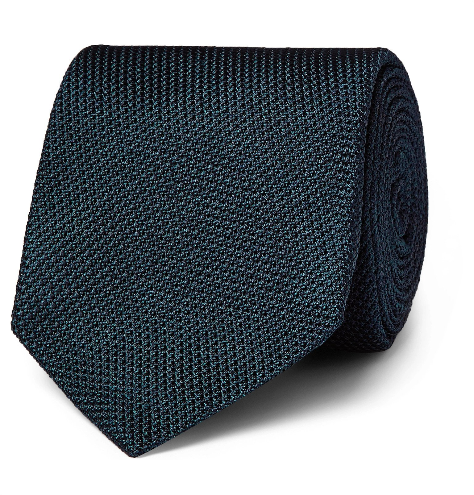 Photo: Kingsman - Drake's 8cm Silk-Grenadine Tie - Blue