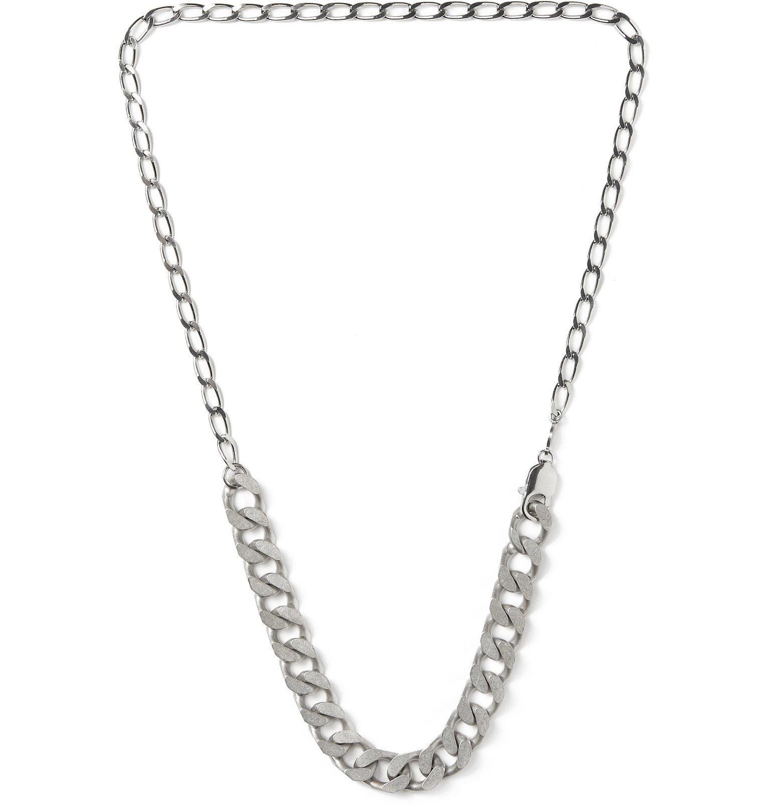Photo: Maison Margiela - Silver-Tone Chain Necklace - Silver