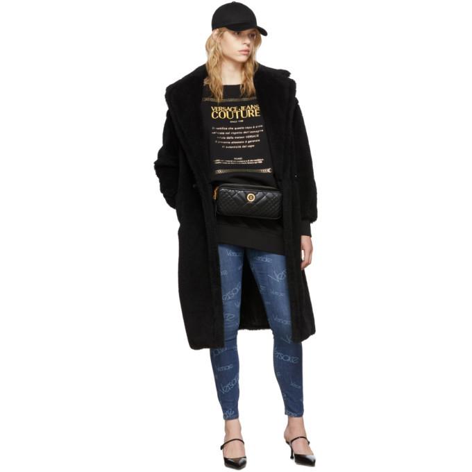 Versace Jeans Couture Black Logo Sweatshirt Dress